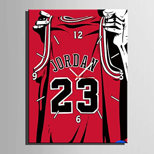 (GXFCFF Canvas Pictures Wall Art Artwork,60×40CM-Jordan Jersey, Images & Paintings Printed on Canvas,Home Decor for Living Room and Bedroom)