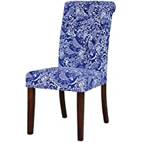 Belmont Home Blue and White Parsons Chairs (Set of 2)