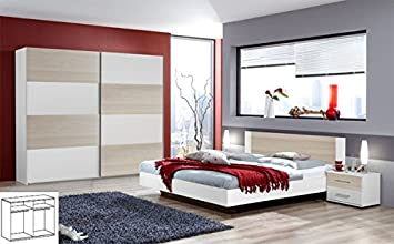 Unbekannt Komplett Schlafzimmer 720 weiss esche Bett 140x200 cm ...