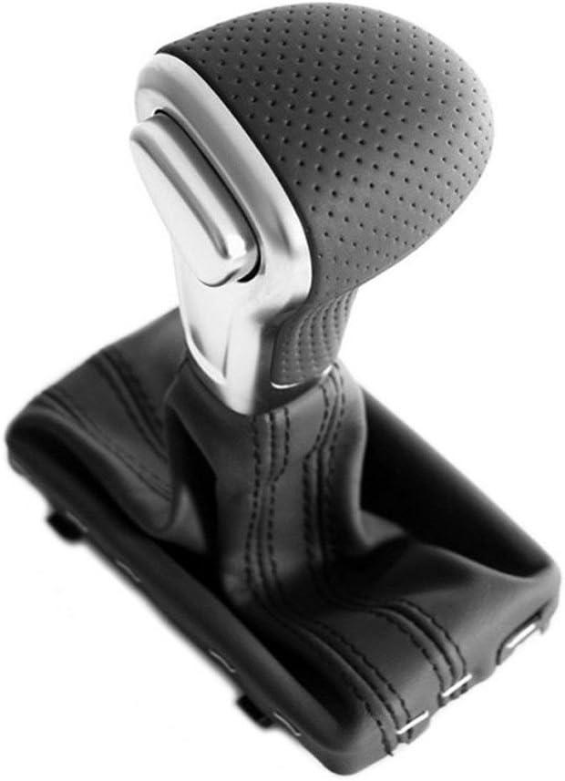 original Audi titanio de cuero y aluminio Pomo de palanca de cambios
