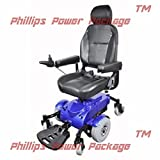 """Zip'r Mobility - Zip'r Mantis - Full Size Power Wheelchair - 18""""W x 18""""D Seat - Blue - PHILLIPS POWER PACKAGE TM - TO $500 VALUE"""