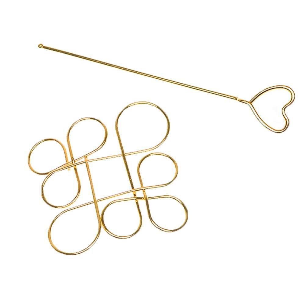 COMVIP Metal Hollow Out Chinese Knot Stick Hair Accessory Hairpin 180118EE025