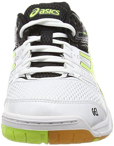 ASICS Gel-Rocket 7 - Zapatillas de deporte para hombre Blanco (White/Flash Yellow/Black 0107)