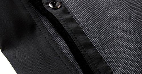 Abrigo Chaqueta Larga Moda DarkGray De Cremallera Abrigo Abrigo Informal Invierno De Hombre De Grueso De Chaqueta Cuello De De Chaqueta Los Formal Chaqueta De De Abrigo Abrigo Para XL Hombres Manga BwYnn5FPqx