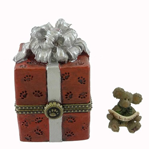 Boyds 20th Anniversary Bearstone Treasure Box - Winston's Gift Box with Joy ()