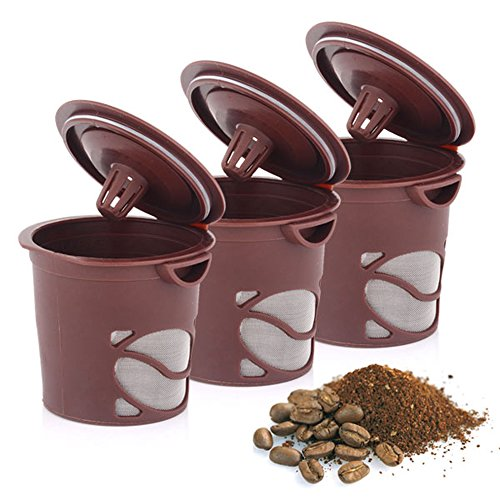 (Reusable Coffee Capsule, 3 Pack Coffee Capsule Filter Eco-friendly Brown Reusable Gusto Coffee Capsule Plastic Refillable Compatible Gusto Coffee Filter Baskets Capsules Soft Capsules Taste Sweet)