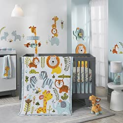 Lambs & Ivy, Happi Jungle By Dena Unisex 4 Piece Crib Bedding Set