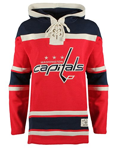 NHL Washington Capitals Men's Alternate Lacer Heavyweight Style 2 Hoodie, Medium, Red