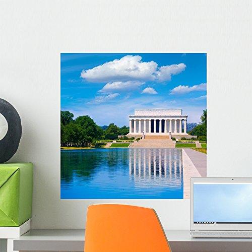 Wallmonkeys FOT-78718741-18 WM362516 Abraham Lincoln Memorial Reflection Pool Washington Peel and Stick Wall Decals H x 18 in W, 18