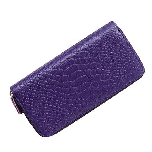 la mano Piel Gran capacidad tarjeta Bolso almacenaje muchos de Lady Acmede con 8 Pattern con colores Croco largo de Wallet Titular Opci cremallera xAwPIaqY