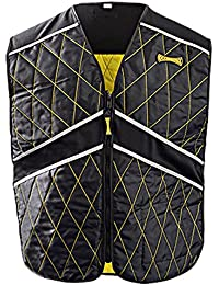 MiraCool Plus Evaporative Cooling Sport Vest - 2X/3X - #903 - Black with Yellow Stitching