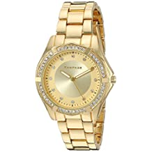 Rampage Women's 'Crystal Dial Band' Quartz Metal and Alloy Automatic Watch, Color:Gold-Toned (Model: RP1073GD)