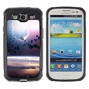 """Pulsar iFace Series Tpu silicona Carcasa Funda Case para Samsung Galaxy S3 III I9300 , Cinturón de Asteroides Planet Space Cosmos Universo"""""""