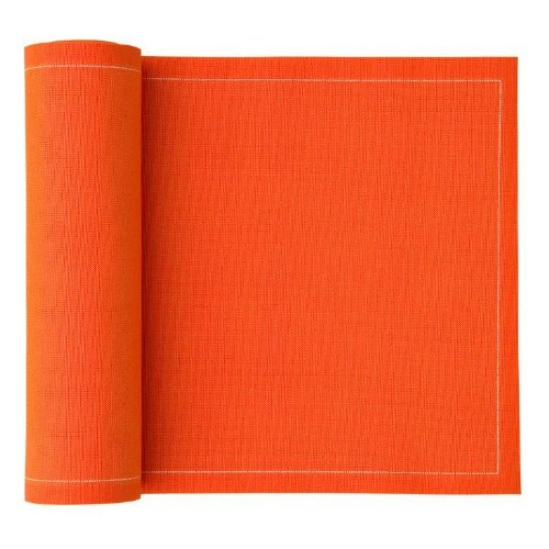 MYdrap Cotton Cocktail Napkin, 4.3'' Length x 4.3'' Width, Orange (10 Rolls of 50)