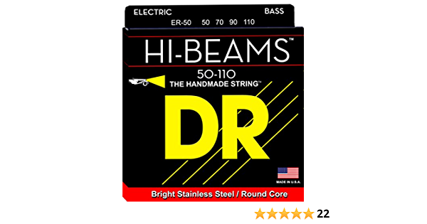 Stainless Steel Round Core 40-100 Renewed DR Strings Hi-Beam