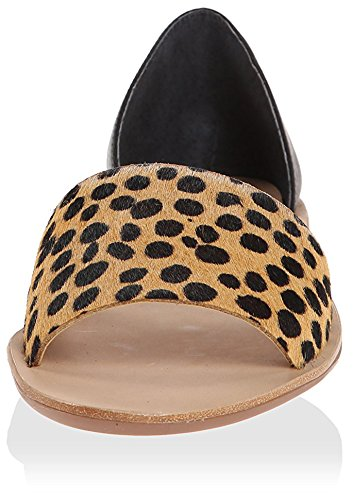 Cheetah Flat Loeffler D'Orsay Women's Black Peep Randall Toe nZxww8XYAq