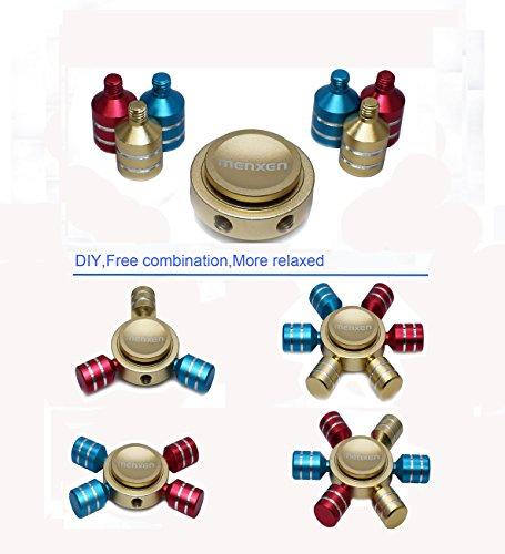 MENXEN DIY 6 Sided Fidget Spinner with Stainless Steel Bearings, High Speed Spin Metal EDC Finger Spinner Toys