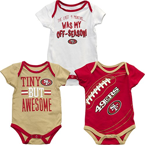 Outerstuff San Francisco 49ers Game Day Baby/Infant 3 Piece Creeper Set 3-6 Months