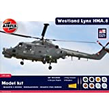 Airfix A50112 Royal Navy Westland Lynx 1:48 Scale Military Aircraft Gift Set with Paint Glue and Brushes