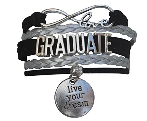 Infinity Collection Graduation Jewelry, Class of 2019 Graduation Bracelet for Graduates- Live Your Dream Bracelet ()