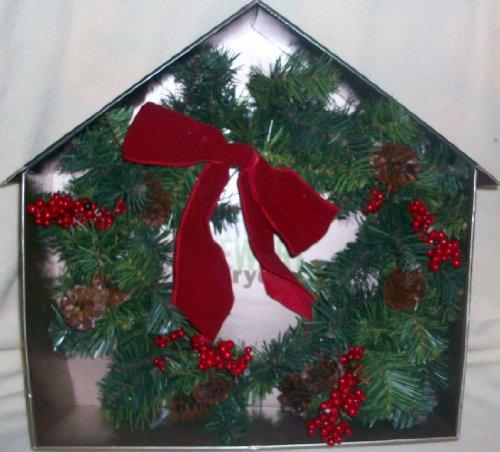 Trim a Home, Christmas Holiday Winter Decor, Woodland Holiday Wreath
