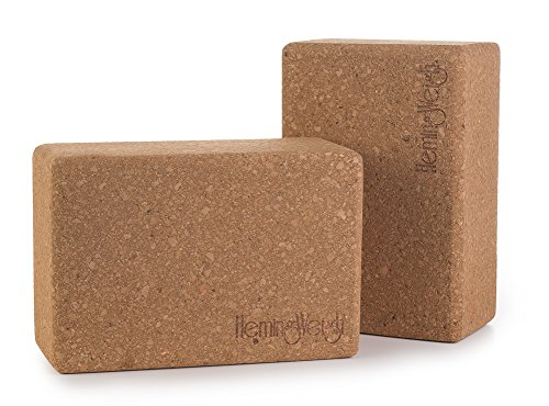 Set of 2 HemingWeigh Cork Yoga Blocks