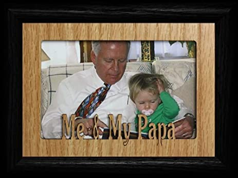 Amazon.com - 5x7 ME & MY PAPA Landscape OAK Mat with Frame ~ Holds a ...
