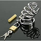 ''Kwan-li-so-4'' , 2.25'' Short Cage . Tight Squeeze Steel Chastity Device by Manhood AcademyTM . Made in USA (not imported) (1.75'' Ring)