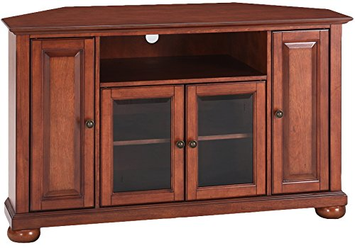 Crosley Furniture Alexandria 48-inch Corner TV Stand - Classic Cherry