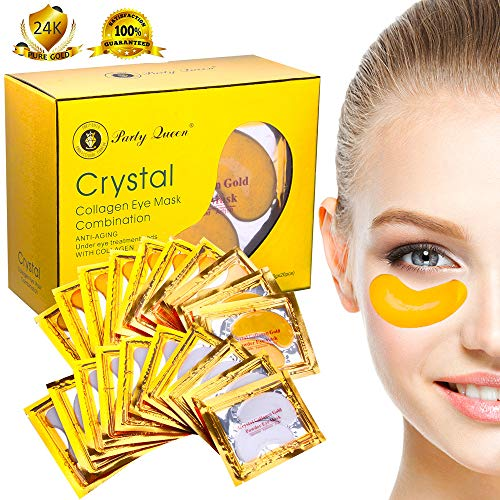 Party-Queen-24K-Gold-Under-Eye-Bags-Treatment-Masks-Collagen-Under-Eye-Patches-Pads-for-Dark-Circles-Puffy-Eyes-and-Wrinkles-20-Pairs-2-Types-Pack-In-1