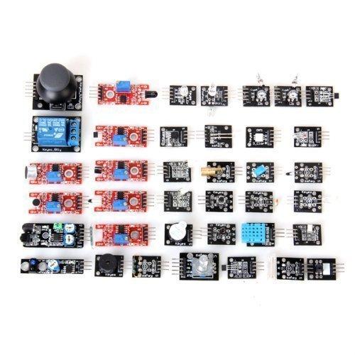 ARDUINO Compatible 37-in-1 Sensor Module Kit - Black