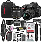Nikon D3500 DSLR Camera with AF-P DX NIKKOR 18-55mm f/3.5-5.6G VR Lens + 64GB Card, Tripod/Monopod, Battery, and Platinum Bundle