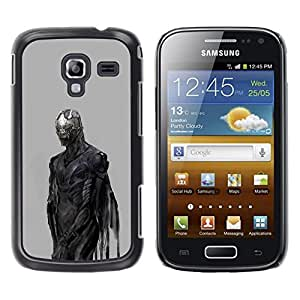 Be Good Phone Accessory // Dura Cáscara cubierta Protectora Caso Carcasa Funda de Protección para Samsung Galaxy Ace 2 I8160 Ace II X S7560M // Devil Demon Grey Metal