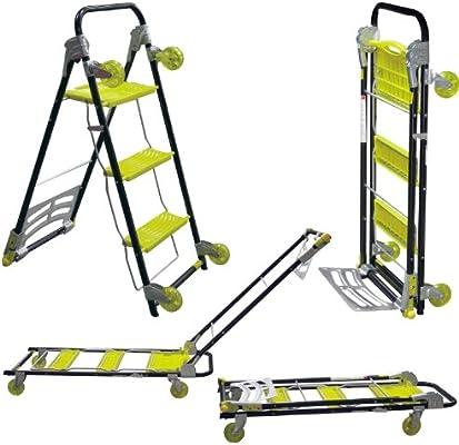 VonHaus - Carrito-escalera plegable multi-función 4 en 1 para uso pesado / escalera plegable / carrito de saco / carrito para muebles: Amazon.es: Industria, empresas y ciencia
