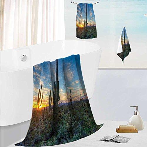 SCOCICI1588 superior bath towel setTall Saguaro Cactus with
