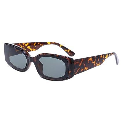 f0004f5a65 yanhonin gafas de sol cuadradas color caramelo Gafas de sol Chic Popular  Moda Mujeres Uv400 marca