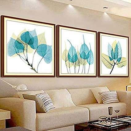 Aidou Furniture Pendant Decoration Drilling DIY Cross Stitch Transparent Leaves 3 Decorative Painting Simple 5D Diamond Painting 180X60cm Hand-Painted Size : 120x40cm