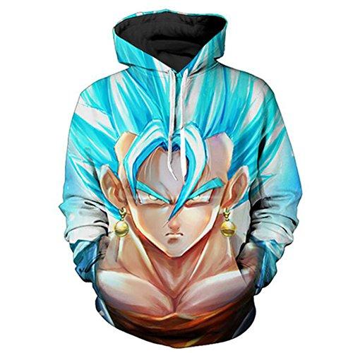 Yangxinyuan Unisex Hoodies Dragon Ball Z Goku 3D Print Pullover Sportswear Sweatshirt Tops (0696, M)