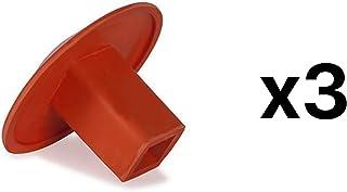 Champion Sports Molded Rubber Base Plugs For Baseball Softball Bases (3-Pack)