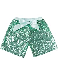 Baby Girls Shorts Toddlers Short Sequin Pants with Bow