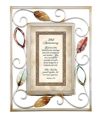 CB Gift Heartwarming Expressions 50th Anniversary Metal Framed Print (50th Anniversary Metal)