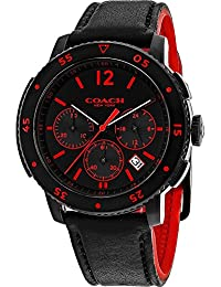 amazon com coach watches men clothing shoes jewelry coach watches men s classic watch black