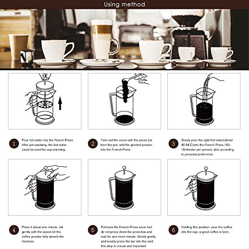 French Press Coffee Maker Problems : Homdox French Press Coffee Maker, Heat Resistant Glass Tea & Espresso Maker with Stainless ...