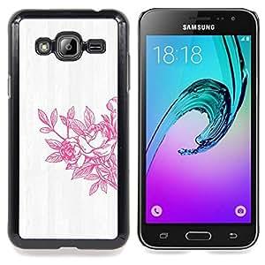 For Samsung Galaxy J3(2016) J320F J320P J320M J320Y Case , Primavera Arte lavado blanco gris - Diseño Patrón Teléfono Caso Cubierta Case Bumper Duro Protección Case Cover Funda