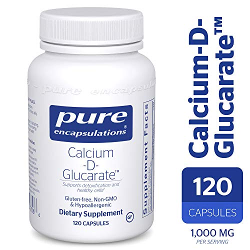 Pure Encapsulations - Calcium-D-Glucarate - Hypoallergenic Dietary Supplement to Support Cell Function* - 120 Capsules