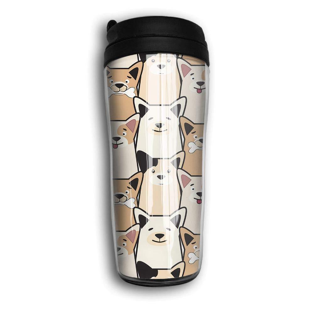 Xyou Animal Dog Pug Cartoon Stainless Lined Coffee Tumbler, 12-Ounce,Vacuum Insulated Tumbler,Travel Mugs.