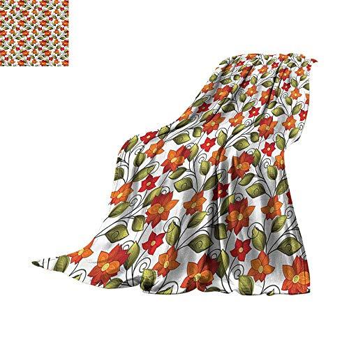 homehot Soft Bed Blanket Fleur De Lis,Imperial Nobility Sign 80