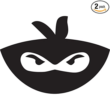 Amazon.com: NBFU DECALS Angry Ninja FACE (Black) (Set of 2 ...