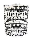 LEELI Canvas Storage Bin Basket, Collapse Toy Bin storage for Organizing Kid's Laundry Basket/Baby Clothing/Playroom Organization/Toy Bin/Nursery Hamper(Totem)