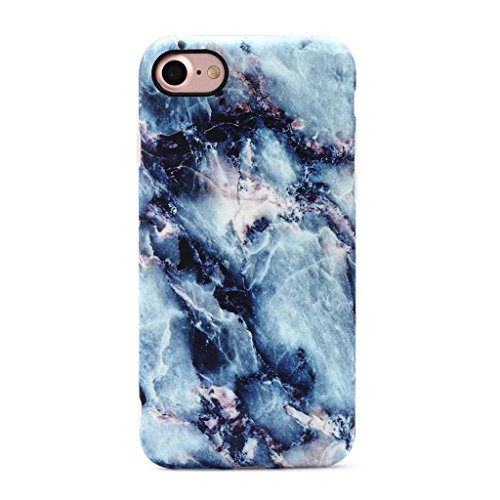 GOLINK iPhone 7 Case/iPhone 8 Case, Slim-Fit Anti-Scratch Shock Proof Anti-Finger Print Flexible TPU Gel Case For iPhone 7/iPhone 8 – Blue Marble